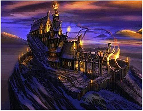 Piezas Puzzles Puzzles 3D Regalo De Cumpleaños Rompecabezas De 1000 Piezas The Elder Scrolls V Skyrim Artwork Fantasy Art Rompecabezas Casual Muy Desafiante Para Adultos Y Adolescentes Rompecabezas