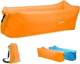 Opblaasbare Ligstoel Air Sofa, Air Ligstoel JSVER Luchtbank met Draagbare Pakket voor op reis, buiten, kamperen, wandelen,...