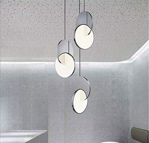 VIWIV Lámpara de metal creativa iluminación combinada de estilo nórdico, lámparas de iluminación personalizadas para artistas aptas para salón, mesa de comedor, bar