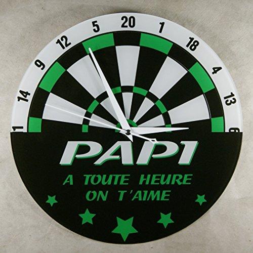Horloge - PAPI - à toute heure on t'aime (Cadeau original pour Papi, Fête des Grands pères, Anniversaire, Noël.)