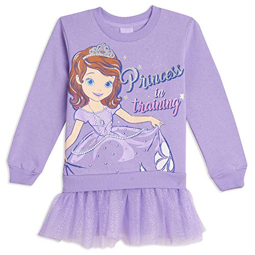 Disney Sofia The First Toddler Girls Costume Pullover Sweater with Tulle Ruffles 3T