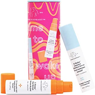 Drunk Elephant Time to Wake Up Duo. C-Firma and B-Hydra Day Serums for Clear Skin Complexion and Hydration (Vitamin C Seru...