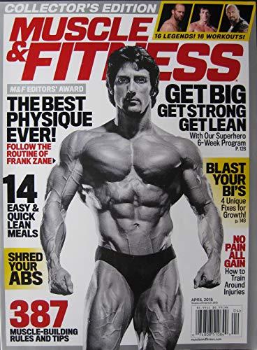 April 2015 Muscle & Fitness Magazine Sly Stallone Dwayne Johnson