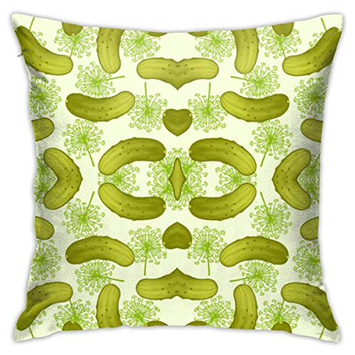 NHJYU Soft Throw Pillow Case 18' X 18' Pickles_Mirror Pillowcase Modern Design,Square Throw Covers,Decorative Cushion for Sofa Couch Car