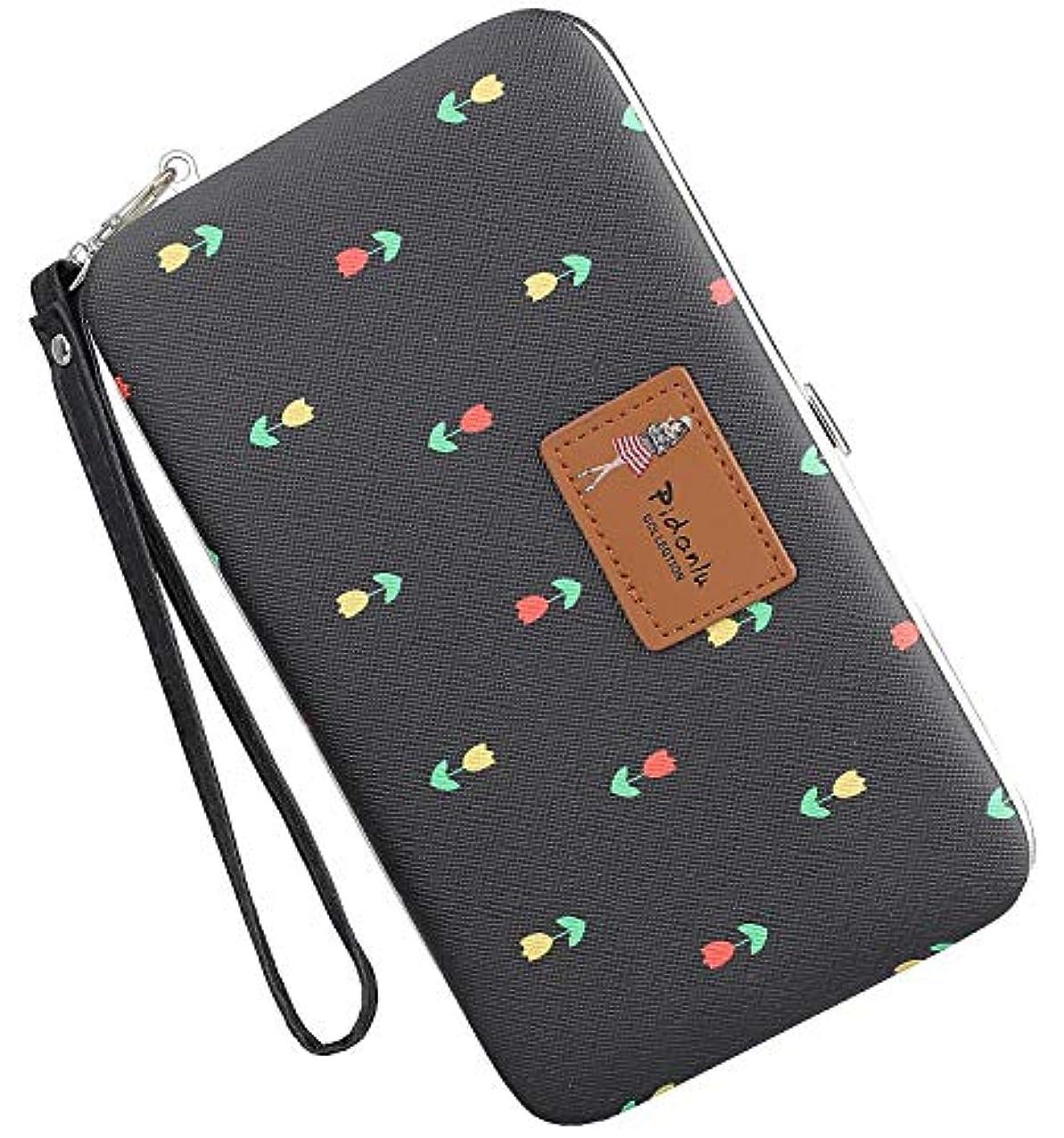Leather Phone Clutch Wallet Snap Wallet for Ladies Wristlet Hard Case Long Purse for iPhone X / 8/8 Plus / 7/7 Plus Floral
