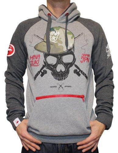 MINAZUKI, Herren Sweat-Shirt, Camou, Grey, MZ-SW-002, GR M