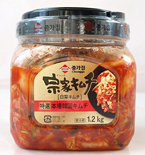 徳用 宗家(チョンカ) キムチ(白菜キムチ) 1.2kg×4個 要冷蔵