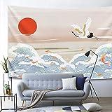 nobranded Rétro Art Tissu Décor À La Maison Serviette De Plage Tapis De Yoga De Style Chinois Grue de fées Tapisserie Tenture Murale Tissé Tapisserie