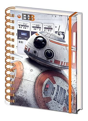 Miniatures World Star Wars - Cuaderno de espiral de Star Wars BB8