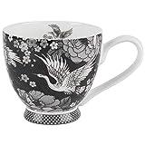 Portobello CM063601 Crane Blossom Bone China Footed Mug, Multi, 0.3Kg