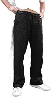 MogogoMen Loose Straight Athletic-Fit Drawstring Big & Tall Trousers