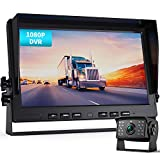 Fookoo Ⅱ HD 1080P Wired Backup Camera System Kit,10 inch HD Dual Split Screen Monitor with Recording IP69 Waterproof Rear View Camera Parking Lines CCD Chip for Truck/Semi-Trailer/Box Truck/RV(DY101)
