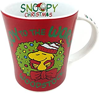 Peanuts Christmas Holiday Large Mug (Snoopy & Woodstock