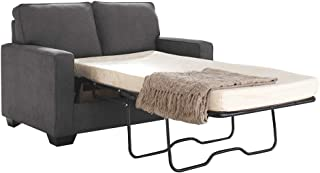 Ashley Furniture Signature Design - Zeb Sleeper Sofa - Contemporary Style Couch - Twin Size - Charcoal