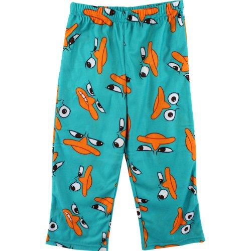 "Disney Phineas & Ferb ""Perry"" Teal Pajama Pants 4/5-14/16 (4/5)"