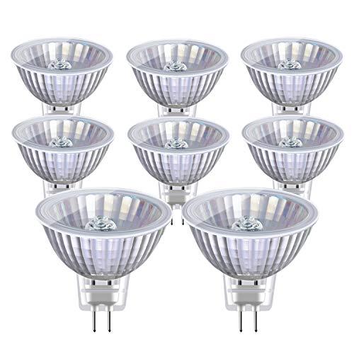 Vicloon MR16 Halogenlampen, 8 Stück 35 Watt GU5.3 Halogen Reflektor, 750LM, 12V, 38° Abstrahlungswinkel, CRI> 99, 2800K Warmweiß Birne Leuchtmittel, Dimmbar Lampe Strahler