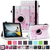 NAUC Tablet Schutzhülle für Medion Lifetab P8912 Hülle Tasche Standfunktion 360° Drehbar Cover Universal Hülle, Farben:Motiv 1