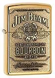 Zippo Jim Beam Brass Emblem Lighter - Mechero, Color latón