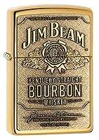 ZIPPO(ジッポー) Jim Beam (ジム ビーン) ライター 254BJB.929 Brass Emblem [並行輸入品]