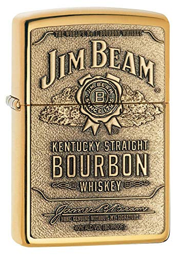 Zippo 1x Zippo ® Feuerzeug Jim Beam Brass Emblem Burbon High Polish Brass