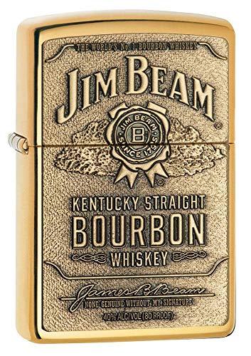 1x Zippo ® Feuerzeug Jim Beam Brass Emblem Burbon