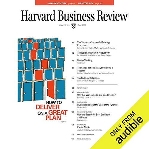 The Contradictions That Drive Toyota's Success (Harvard Business Review)                   By:                                                                                                                                 Hirotaka Takeuchi,                                                                                        Emi Osono,                                                                                        Norihiko Shimizu,                   and others                          Narrated by:                                                                                                                                 Todd Mundt                      Length: 34 mins     32 ratings     Overall 4.1