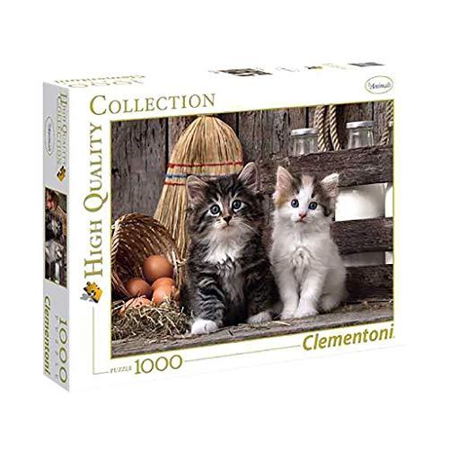Clementoni 39340 Niedliche Kätzchen - Puzzle 1000 Teile, Geschicklichkeitsspiel für die ganze Familie, farbenfrohes Legespiel, Erwachsenenpuzzle ab 9 Jahren
