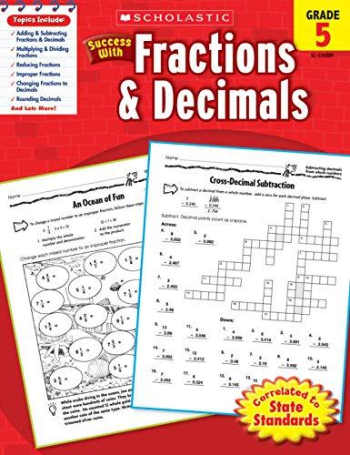 Scholastic Success With Fractions Decimals Grade 5