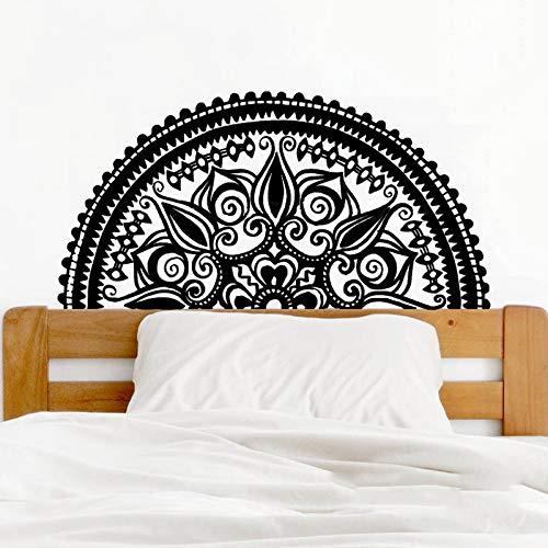 hetingyue Boeddha Bohème Yoga Studio slaapkamer decoratie Mooie halve mandala bloem wandposter, decoratief, zelfklevend