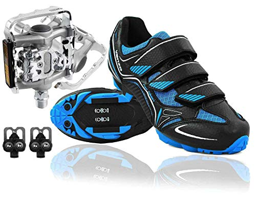 Venzo Mountain Bike Bicycle Cycling Compatible with Shimano SPD Shoes + Multi-Use Pedals 36