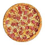 Bibykivn Couverture de Pizza Géant Rond Pizza Blanket Couvertures Burritos Alimentaire Peluche Cape Canapé Extérieur Plage Tapis Serviette de Bain Tapis pour Enfants Adultes ((Viande Ronde))
