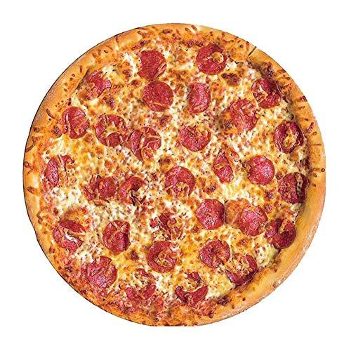ZNEU Pizza Decke Runde Burrito Tortilla Komfortabel Sanft Strandtuch Fleecedecke Picknick Teppich Strand Handtuch Reisedecke Schlafzimmer Sofa Outdoor Kuscheldecke (Rundes Fleisch)