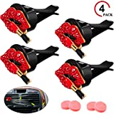 red air freshener - Mudder 4 Pieces Car Air Vent Decoration Bling Car Interior Decoration Rhinestone Lipstick Car Air Freshener Clip with Fragrance Cotton Pads(Red)