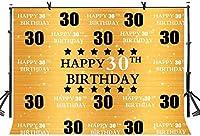 HD 7x5ft誕生日の背景ハッピー30歳の誕生日の写真撮影の背景黄金のきらめきをテーマにしたパーティーの装飾写真撮影小道具LYZY0309