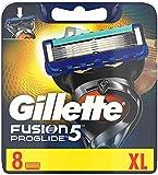 Gillette Fusion 5 ProGlide Rasierklingen mit Trimmer für Präzision und Gleitbeschichtung, 8 Ersatzklingen