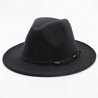 2019 Mens Womens Hats Womens Fashion Unisex Wool Polyester Fedora Hat for Women Wool Trilby Church Hat Wide Brim Jazz Hat Casual Wild Fascinator Hat Adjused Size Soft