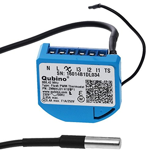Qubino ZMNHLD1 Flush PWM thermostaat inbouwmicromodule EU Z-Wave Plus, zwart, blauw
