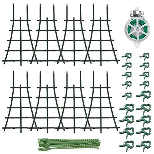 N\A 8 supporti per piante rampicanti, 31 morsetti in tessuto non tessuto, supporto per piante rampicanti, supporto per piante in vaso, fioriere per piante rampicanti