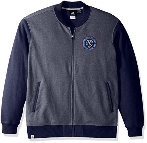 adidas - Chaqueta retro para hombre, MLS, Chaqueta de chándal retro, Hombre, color azul marino, tamaño large