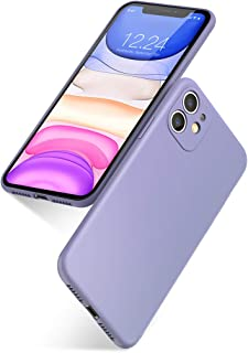 UGREEN Color Soft Case iPhone 11 Liquid Silicone Rubber Case Cover Compatible for 2019 New iPhone 11 6.1inch Comfortable Grip Screen & Camera Protection Velvety-Soft Lining Shock-Absorbing - Purple