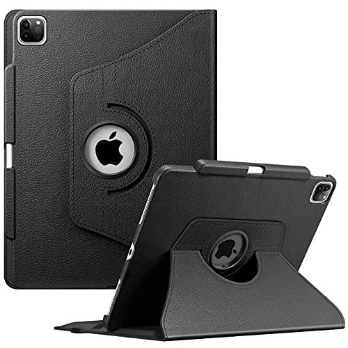 Fintie Hülle Kompatibel mit iPad Pro 12.9 2021 5. Generation/iPad Pro 12.9 4. Gen 2020/3. Gen 2018-360 Grad verstellbare Schutzhülle Cover mit Pencil Halter, Auto Sleep/Wake, Schwarz