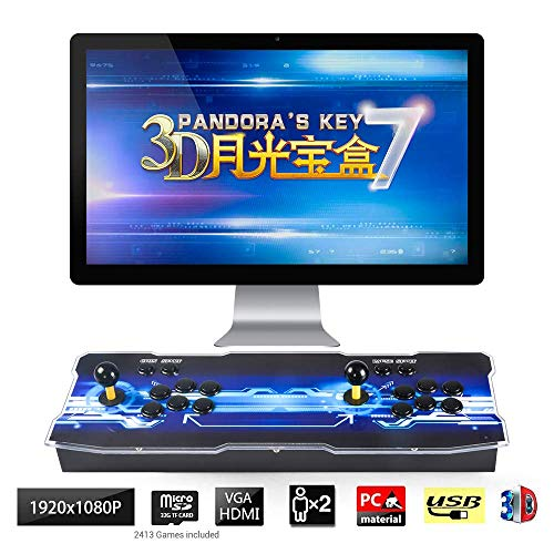 TAPDRA 3D Pandora Key 7 Retro Arcade Game Console   2670 Retro HD Games(160 in One 3D Games Included)   HD 1280x720   Support Multiplayers   Add More Games   HDMI/VGA/USB/3.5mm Audio Output