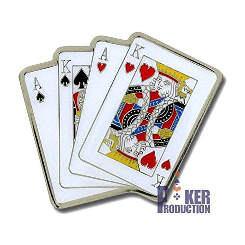 Poker Weight Card-Guard Omaha - en Laiton - 2 Faces différentes - 50x40mm