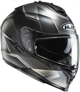 HJC Helmet Motorrad-Helm IS-17 Loktar, Black/Grey, Größe M