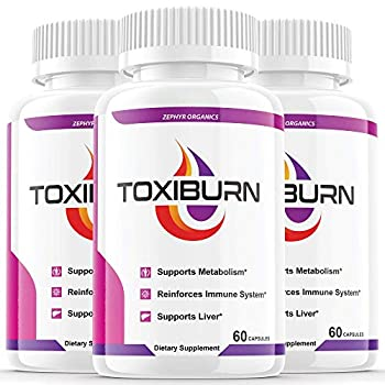 3 Pack  Toxiburn Weight Loss Pills Liver Cleanse Diet Capsules Supplements Reviews Toxi Burn Advanced Pills  180 Capsules