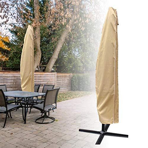WAROOM - Funda de parasol, diseño de plátano para colgar en la pared, extragrande, protección exterior, patio, lluvia, tela Oxford transpirable impermeable con cremallera