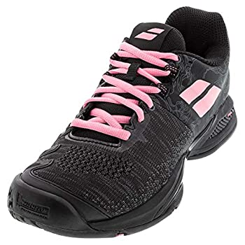 Babolat Women s Tennis Shoes Black Geranium Pink 8 us