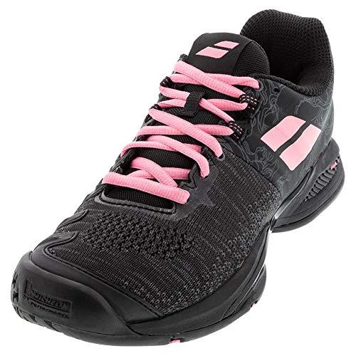 BABOLAT Propulse Blast AC Women, Zapatillas de Tenis Mujer, Black/Geranium Pink, 38.5 EU
