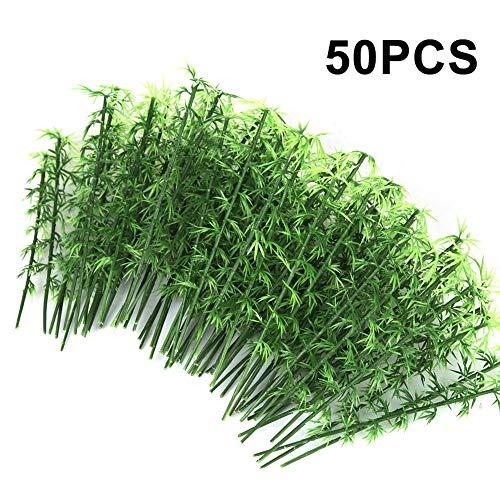 50 Stücke Gemischtes Modellbau Bäume, 15cm Miniatur Modell Baum Landschaft Bambus Baum für DIY Landschaft