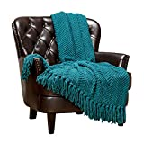 Chanasya Textured Knitted Super Soft Throw Blanket with...